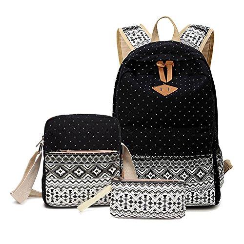 cute black teen side backpack - 5