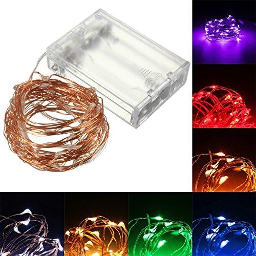 Lights & Lighting - 10m 100 Led Copper Wire Fairy String Light Powered Waterproof Christmas Party Decor - Soft Illumine Insufficient Words Brightness Lightness - 1PCs ()