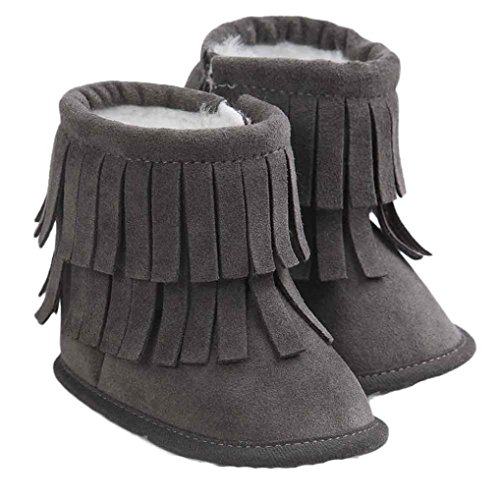 Voberry Baby Toddler Girls Boys Winter Warm Snow Boot Tassels Trimmed Boots Outdoor