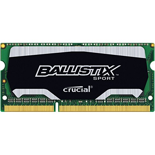 Ballistix Sport 8GB Single DDR3 1866 MT/s (PC3-12800) SODIMM 204-Pin Memory - BLS8G3N18AES4 by Ballistix