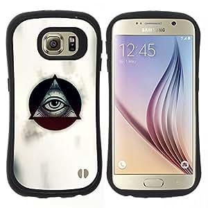 """Pulsar iFace Series Tpu silicona Carcasa Funda Case para Samsung Galaxy S6 , Masones de ojos volver a ver a Blanca"""""""