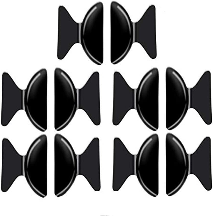 Transparent luzen 5 Pairs Thickness 2.5mm Silicone Anti-slip Nose Pads Cushions for Glasses