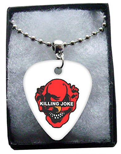 Killing Joke Metal Guitar Pick Necklace Ball Chain Collier Médiator
