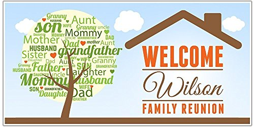 Family Reunion Party Banner Personalized Party Decoration Backdrop]()