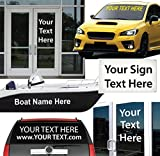 "4"" High by Up to 48"" Long / Custom Vinyl Lettering / Sold Per Line / for Vehicles, Boats, Signs, Doors, Windows & Much More. / Custom Made Text by 1060 Graphics"