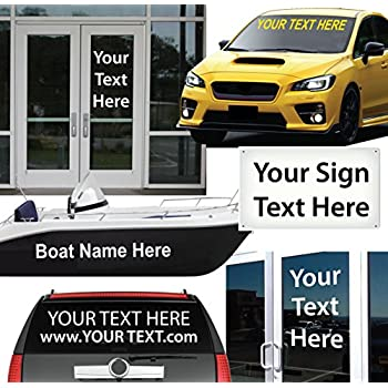 Amazoncom  High By Up To  Long  Custom Vinyl Lettering - Custom vinyl signs
