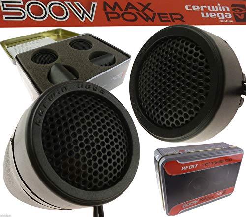 Cerwin-Vega 500 Watt Car Stereo Door Speakers Dash Super Tweeters XED1T Limited ()