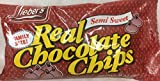 Lieber's Semi Sweet Real Chocolate Chips Kosher For Passover 24 Oz. Pack Of 3.