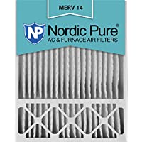 Nordic Pure 20x25x5 (4-3/8 Actual Depth) MERV 14 Honeywell Replacement Pleated AC Furnace Air Filter, Box of 2