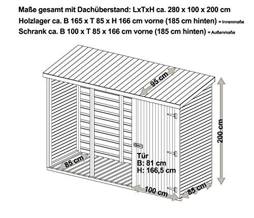 Brennholzregal außen  Brennholzregal mit Geräteschrank außen von Gartenpirat®: Amazon.de ...