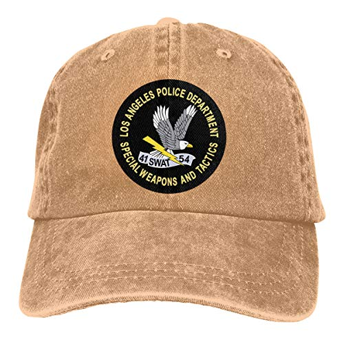 Bhakzqsuyo LAPD Swat Logo Adjustable Dad Hat Denim Hat Baseball Cap ()