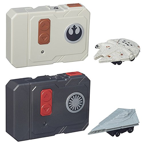 Star Wars The Force Awakens Micro Machines Millennium Falcon + First Order Star Destroyer RC Vehicles - 2pc Set]()