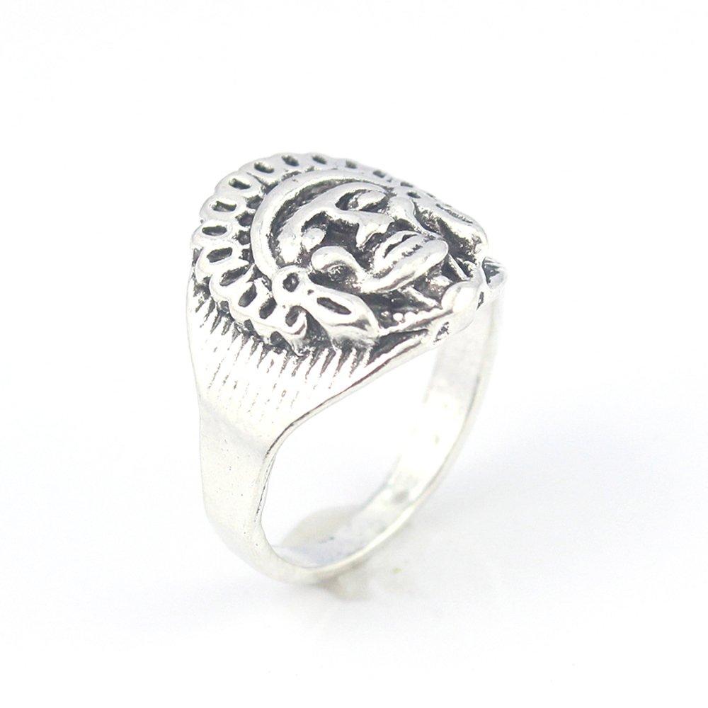 silverjewelgems Buddha Plain Fashion Jewelry .925 Silver Plated Ring 10 S23576