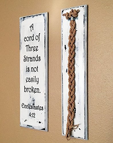A Cord of Three Strands Wedding Board Unity Jute Braids (Wedding Vows Unity Candle)