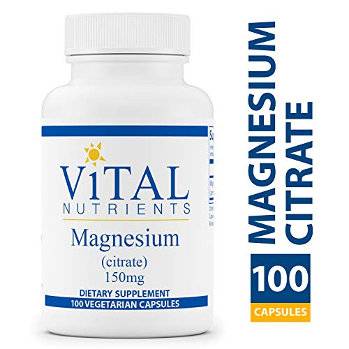 150 Mg 100 Capsules - Vital Nutrients - Magnesium Citrate 150 mg - Magnesium for Enhanced Absorption - Gluten Free - 100 Capsules