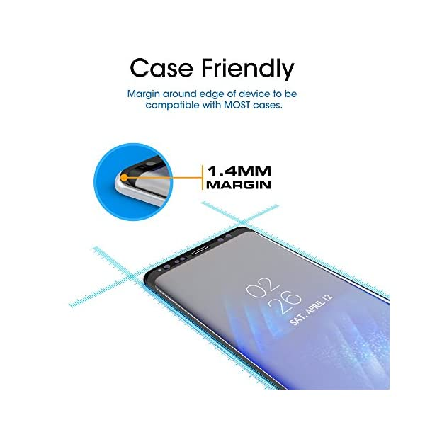 amFilm-Glass-Screen-Protector-for-Samsung-Galaxy-S8-3D-Curved-Tempered-Glass-Dot-Matrix-with-Easy-Installation-Tray-Case-Friendly-Black