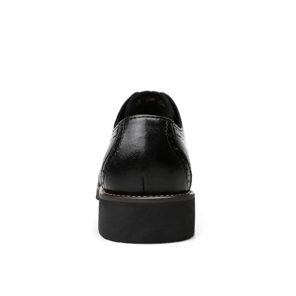 YJiaJu Business Oxford Casual Echtes Leder Britischen Stil Schnitzen Schnitzen Schnitzen Gürtel Brogue Schuhe Für Männer (Farbe   Schwarz, Größe   44 EU) baedef