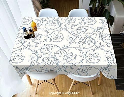 AngelDOU Waterproof Stain Resistant Lightweight Table Cover Flower