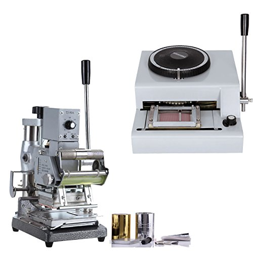 PanelTech 72 Code Printer Card Embossing + Manual Hot Foil Stamping Machine W/ Foil Paper by PanelTech