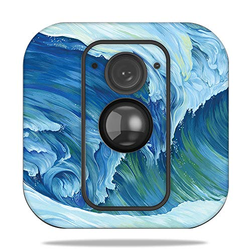 MightySkins Skin for Blink XT Outdoor Camera - Perfect Wave | Protective, Durable, and Unique Vinyl Decal wrap Cover | Easy to Apply, Remove, and Change Styles | Made in The USA