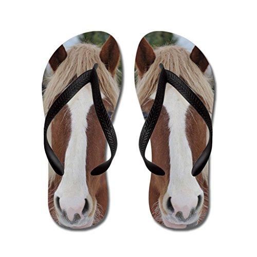 Gueskie Horse is a cute pet animal flip flops Kids L,Pink