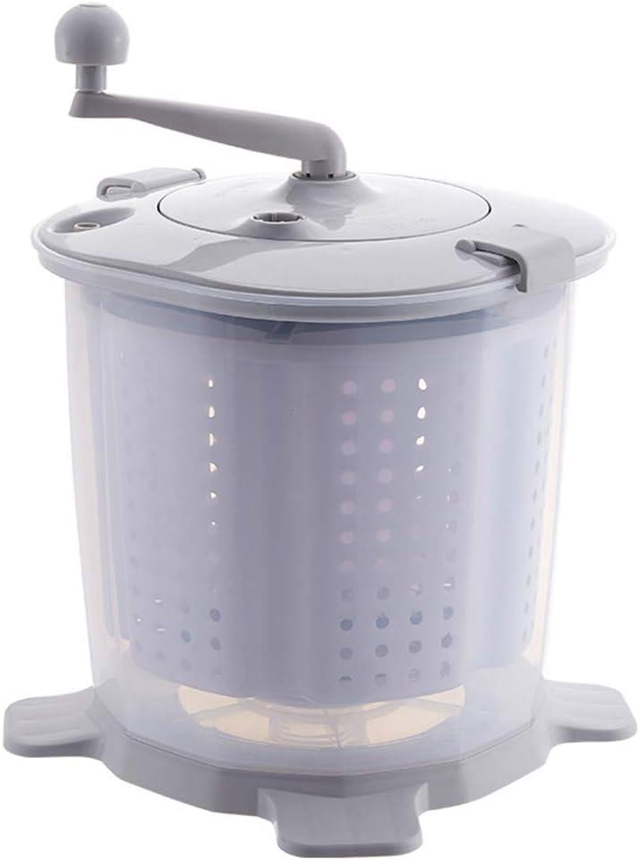 TQMB-A Mini Lavadora manivela del deshidratador, Pequeño Semi-automática Lavadora, Secadora Vuelta Compacto, portátil Manual no eléctricos, Conveniente para Acampar compartida, Azul,Gris