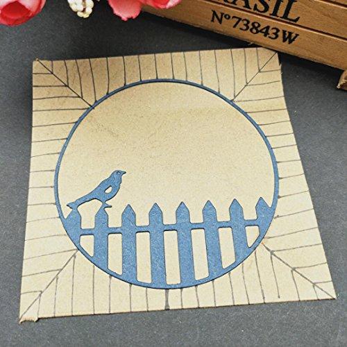 callm Bird Fence Metal Cutting Dies Embossing Card Making Die Cuts Scrapbooking Dies Stencil Metal Cut For Card Album Decoration Paper Card Making (H) by callm (Image #2)