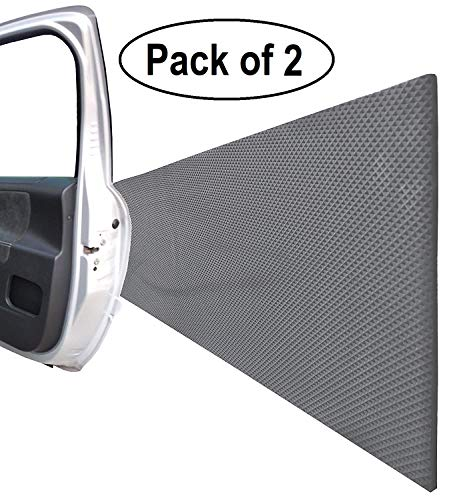 "Garage Wall Protector for Car Doors, Self Adhesive and Thick Foam Guard Bumper, for Indoor or Outdoor use, Dimensions 79""x 8""x 0.2"", Black Color (Pack of 2)"