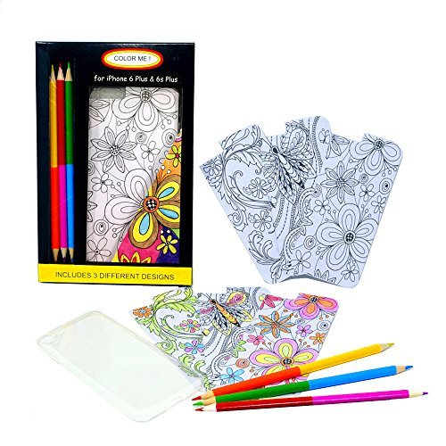 Coloring Pages For Phone Case Of Iphone 6 Plus 6s Plus With 3 Double