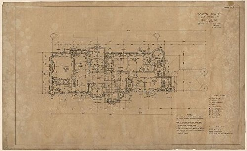 Photo: Beacon Towers,Sands Point,Long Island,New York,2nd Floor Plan,Mansion,1917