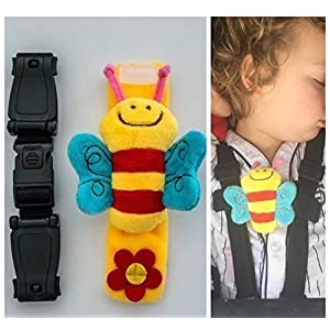 Buggy Pram pushchair clip buddy Bee Child safety strap - stop your Houdini escaping with escape-me-not