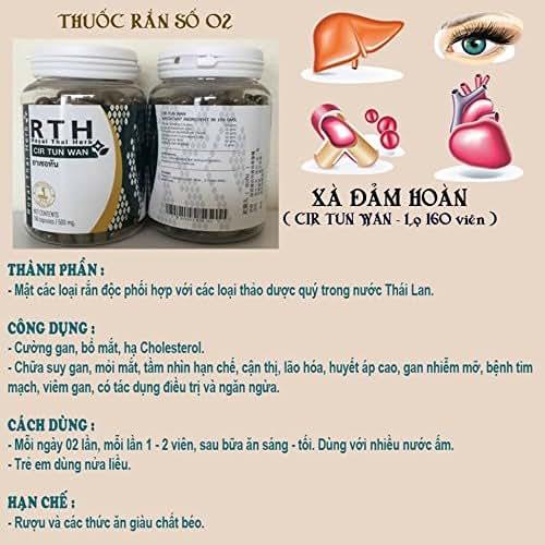 01 box *160 capsules - CIR TUN WAN (Xà Đảm Hoàn) - Thuốc rắn hoàng gia Thái Lan- Royal Thai Herb