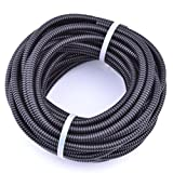 pranovo 30 ft Pet Micro Cord Protector Cable Protect Electric Wires Covers Long Split Wire Loom Tubing Prevent Chewing for Dog Cat Puppy Kitten Pet Rabbit