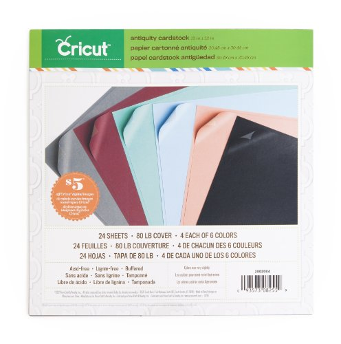 - Cricut 2002004 Textured Cardstock, 12-Inch by 12-Inch, Antiquity
