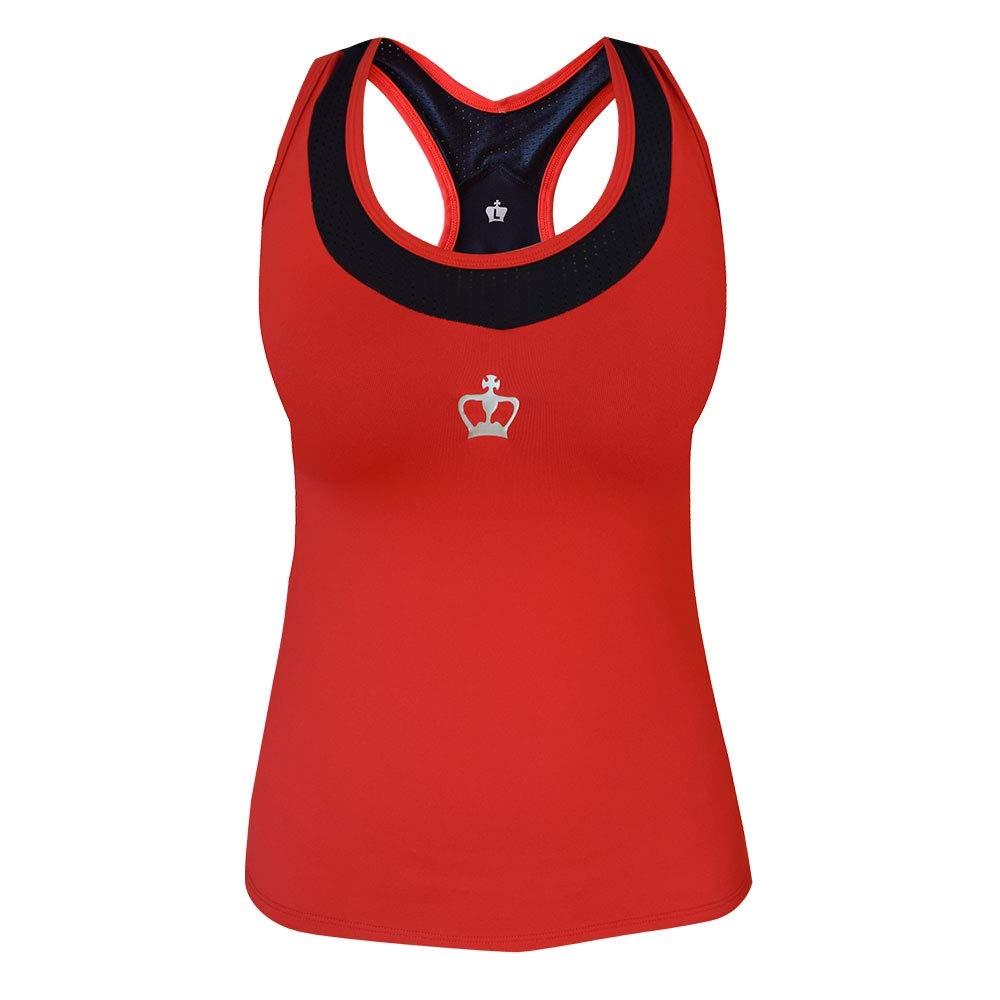 Black Crown Camiseta Tirana Rojo Negro Mujer: Amazon.es: Deportes ...