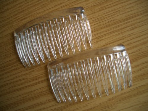 2 x durchsichtig Klein Seitenkamm / Haarspange