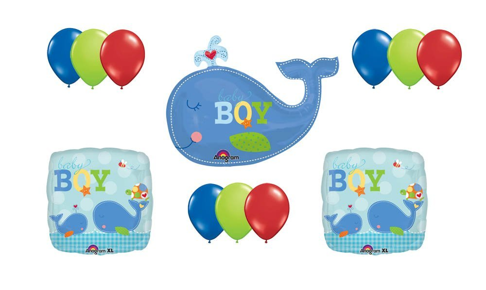 "Ahoy it/'s a boy 12/"" Printed Latex Assorted Balloons pack of 8 Baby Boy"