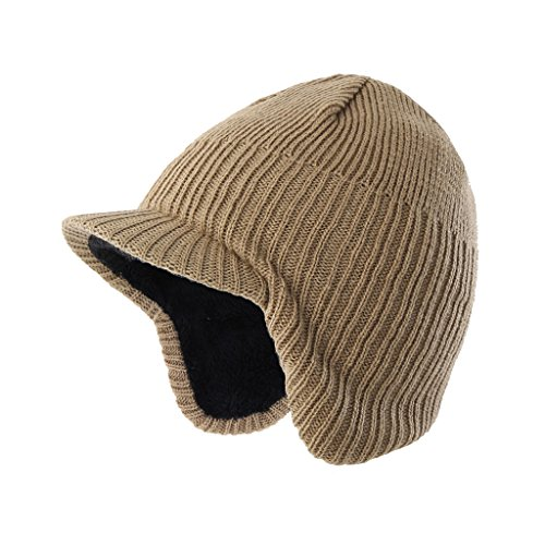 7fbba0b2f57ad 9 · Home Prefer Toddler Boys Winter Hat Fuzzy Rib Knitted Kids Hat with  Visor Earflaps Hat Khaki