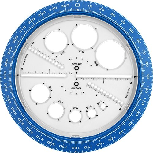 Helix 360 Degree Angle and Circle Maker with Integrated Circle Templates, 6 Inch / 15cm, Assorted Colors (36002) by Maped Helix USA (Image #3)