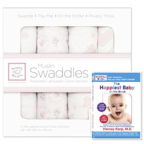 SwaddleDesigns Swaddle Blankets Happiest Butterfly
