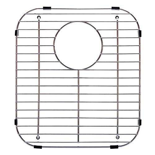 Stainless Wire Bottom Grid - Franke Evolution Universal 13.1 x 11.6-inch Double Bowl Sink Protection Grid in Stainless Steel with Rear Drain, FGD75