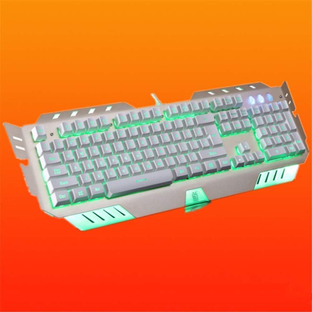 HOUER Mechanical Keyboard Three-Color Dimming Professional Computer Game Keyboard Dustproof and Waterproof