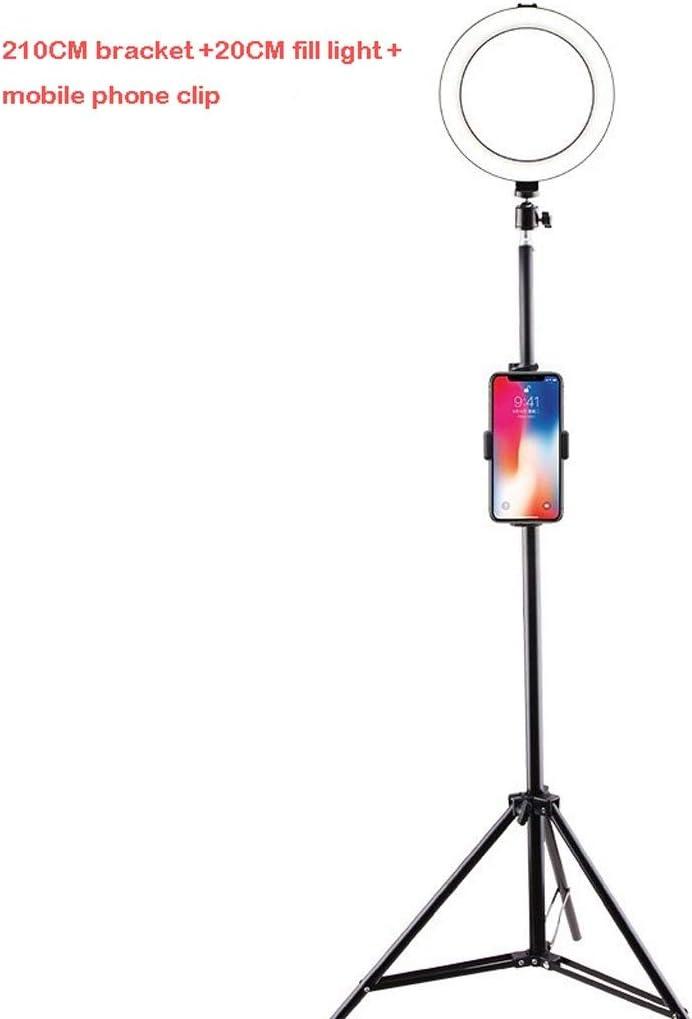 DFYYQ 20CM Desktop//Floor Stand Ring Light USB Power Supply 3 Light Mode Fill Light Anchor Selfie Beauty Light Flashes Size : E