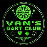 4x ccts0500-g VAN'S Dart Club Game Room Bar Beer 3D Engraved Drink Coasters