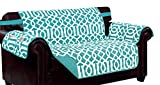 Kashi Home SC054318 Tori Reversible Furniture Protector, Aqua