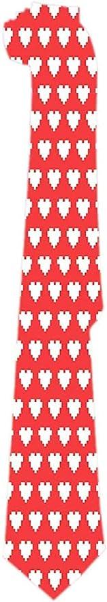 Hombre Corbata Pixel Art Patrón de Corazón Corbatas Clásicas ...