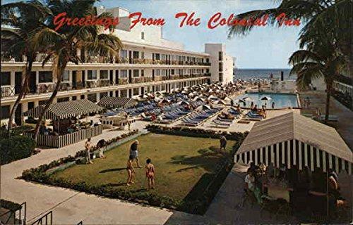 (Colonial Inn Miami Beach, Florida Original Vintage Postcard)