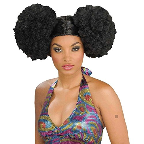 [Afro Puffs Wig Adult Womens 70s Disco Costume Accessory Fancy Dress] (Collector Edition Stormtrooper Kids Costumes)