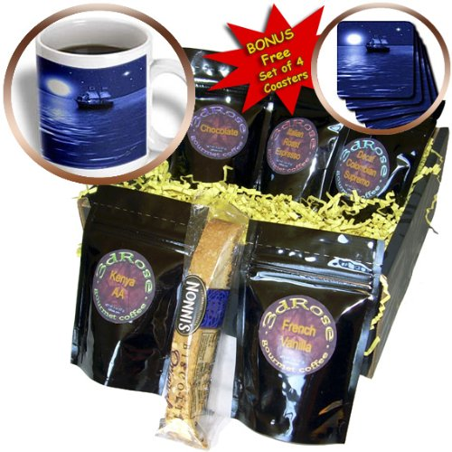 - SmudgeArt Flood Art Ship Designs - Pirate Ship - SmudgeArt Ship Art - Coffee Gift Baskets - Coffee Gift Basket (cgb_6670_1)
