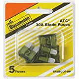 Bussmann (BP/ATC-30-RP) 30 Amp ATC Blade Fuse, Pack of 5
